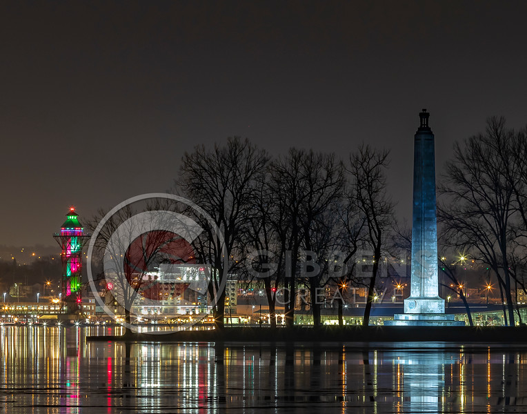 Perry Monument Bi Tower Christmas 11 x 14