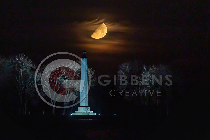 Perry Monument & Moon