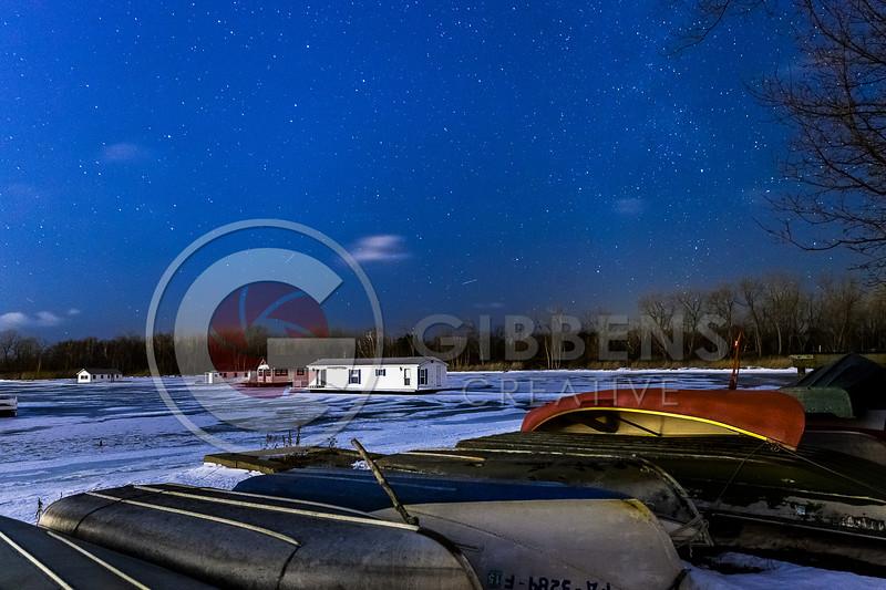 Horseshoe Pond Stars Winter