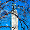 Perry Monument Winter Moon Sunny