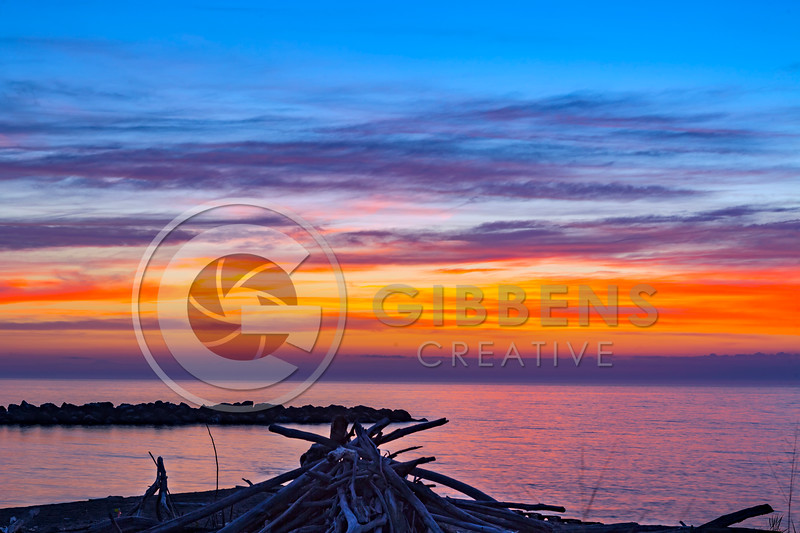 PI Sunset Wood Pile After