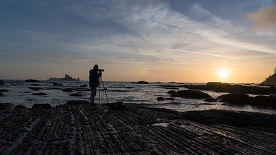 Photographer at Rialto Beach
