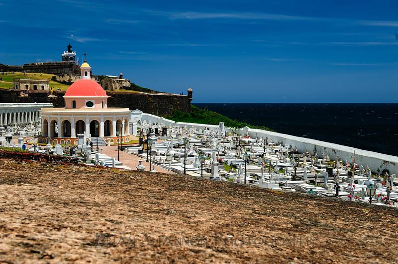 Santa Maria Magdelana de Pazzis cemetery in front of El Morro Castle