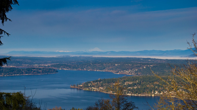 Mount Baker over Lake Sammamish