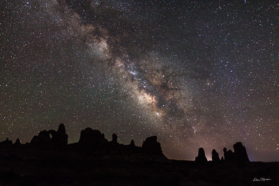 Turret Arch and The Milky Way.  Arches National Park.