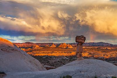 Stormy sunset at Secret Spire.