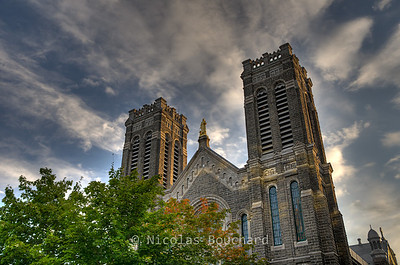 St Roch church in Quebec City (HDR).