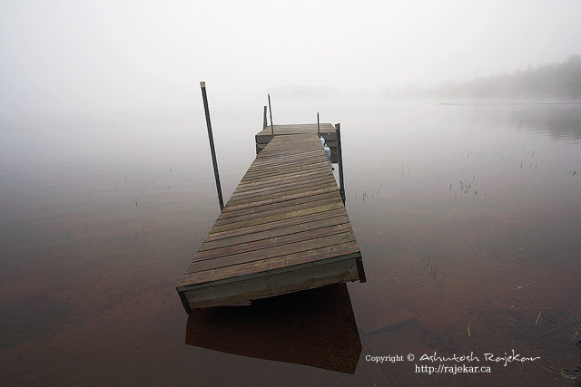Fog over Lac Superieur in the Laurentians