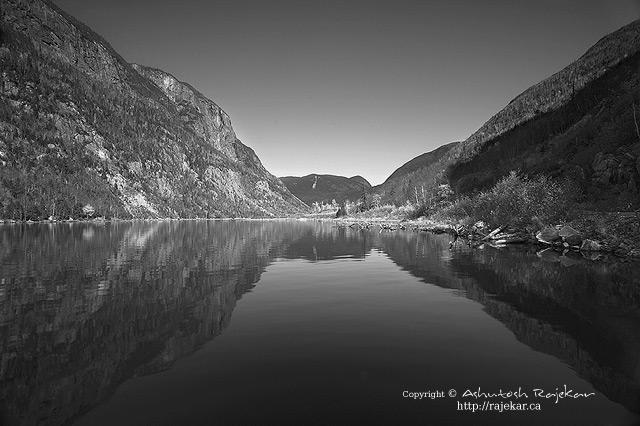 Malbaie river canyon in Parc National des Hautes-Gorges-de-la-Riviere-Malbaie
