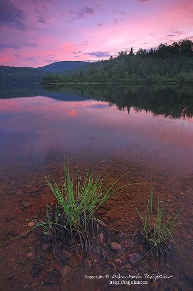 Dusk falls on Lac Monroe in Parc National du Mont Tremblant