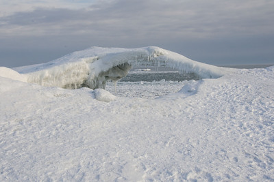 Ice Bridge - Presqu'ile Provincial Park