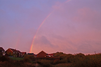 Hint of a double rainbow at Whitefriars Pond
