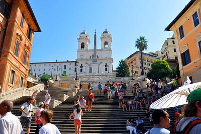 Scalinata della Trinità dei Monti (the Spanish Steps)-Rome, Italy