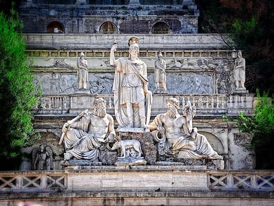 Fountain-Piazza del Popolo-Rome, Italy