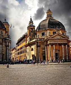 Piazza del Popolo-Rome, Italy