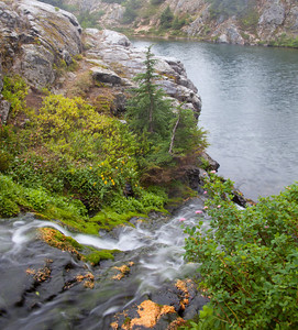 Small falls on Rampart Lake