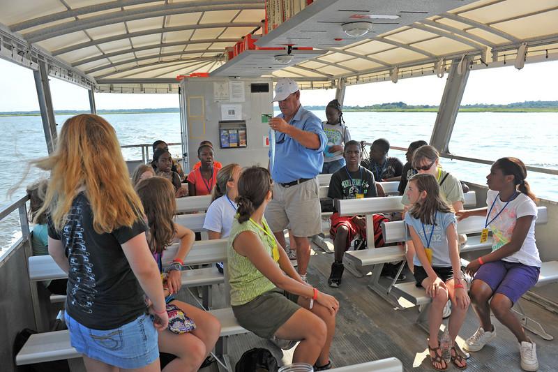 4H Trip to Racoon Key from Jekyll Wharf on Jekyll Island, Georgia 07-08-10