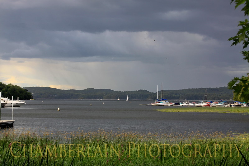 Rain Clouds over Malletts Bay in Colchester, Vt