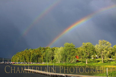 8/22/2011 Double Rainbow over Coates Island in Colchester, VT