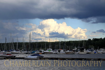 8/22/2011 Storm and rain clouds over Malletts Bay in Colchester, VT