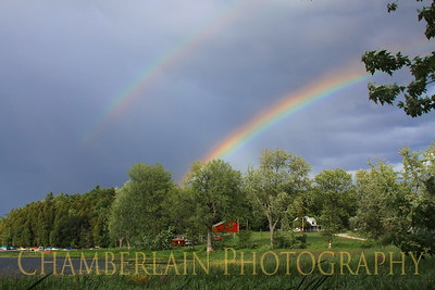 Double Rainbow over Malletts Bay in Colchester, VT 8/22/2011