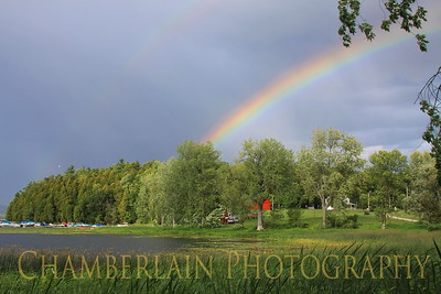 8/22/2011 Rainbow over Coates Island in Colchester, VT
