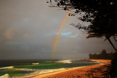 Rainbow Over Sunset Beach