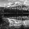 3409  G Rainier Evening Reflection Sharp BW