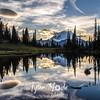 2062  G Mt  Rainier and Tipsoo Lake Sunset Sharp