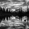 2044  G Mt  Rainier and Tipsoo Lake Sunset Sharp BW