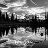 2068  G Mt  Rainier and Tipsoo Lake Sunset BW