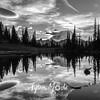 2066  G Mt  Rainier and Tipsoo Lake Sunset BW