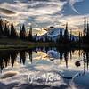 2057  G Mt  Rainier and Tipsoo Lake Sunset Sharp