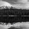 2629  G Rainier Reflection Lakes 10 4 14 BW