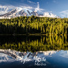 3402  G Rainier Evening Reflection Sharp