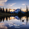 2113  G Mt  Rainier and Tipsoo Lake Sunset Sharp
