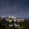 1518  G Rainier and Paradise Inn Night