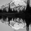313  G Rainier Morning Upper Tipsoo Lake BW V