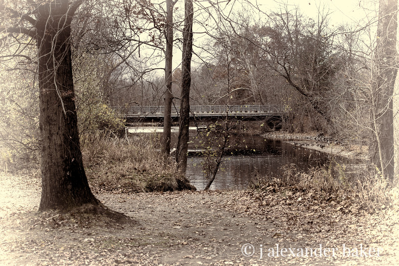 Ramapo River Bridge, antique vignette
