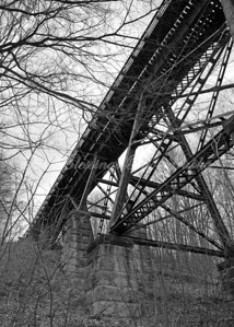 This is an old railroad trestle in DeGraff, Ohio.