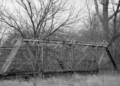 An old bridge at the Thomas' house.