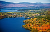 Oquossoc, Rangeley and Mooselookmeguntic Lakes from the air