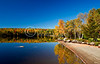 Saddleback Lake fall scenic