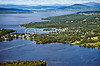 Rangeley village aerial
