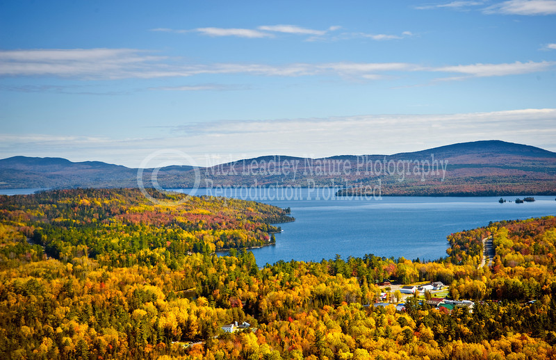 Oquossoc-Rangeley Lake aerial