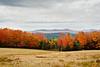 Cloudy fall scenic