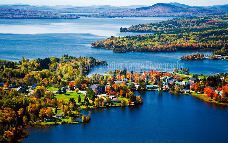 Rangeley Lake - Haley Pond aerial