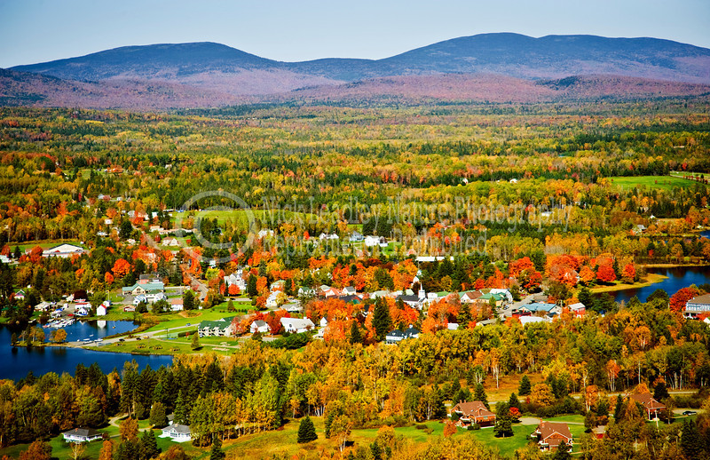 Rangeley village from the air
