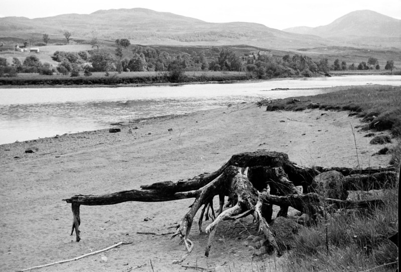 Early 60s. From Bridge of Guar, looking across to Rannoch Lodge?