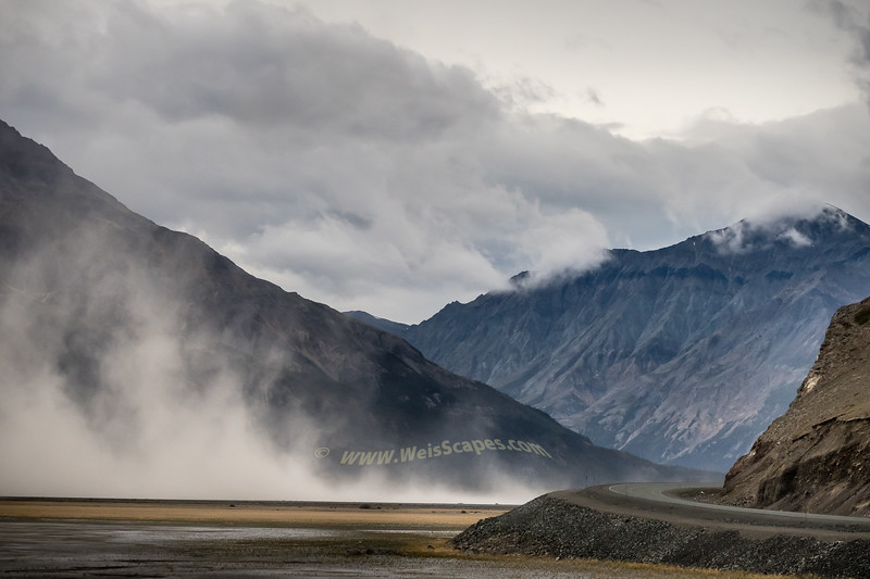 Dust Storm in the Kluane Wilderness, Yukon Territory, Canada.